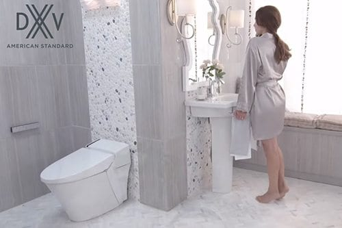 DXV American Standard white bathroom