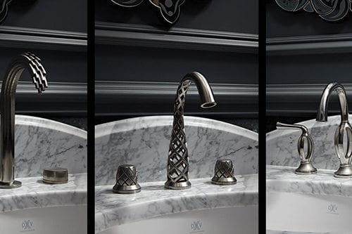 Fancy faucet on a sink